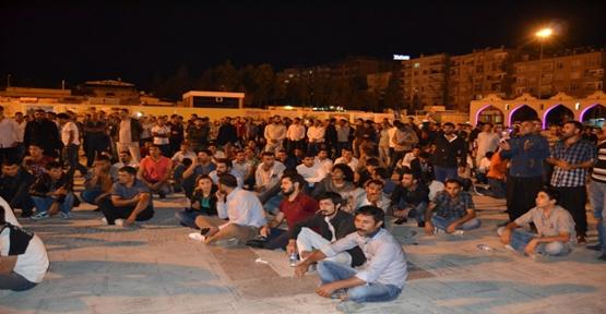 Urfa'da Kobani'ye destek eylemi