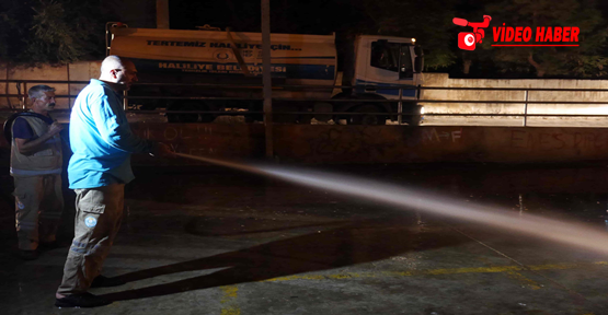 Urfa'da Kurban Kesim Yerlerinin Hijyenini Sağlanıyor