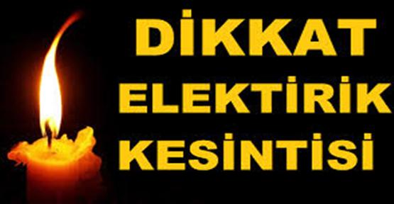 Urfa'da Pazar günü elektrikler kesik