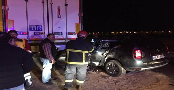 Urfa'da sıkışmalı kaza, 1 yaralı
