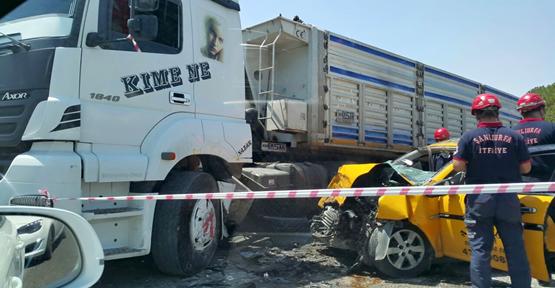 Urfa'da trafik kazası, 1 ölü, 1 yaralı