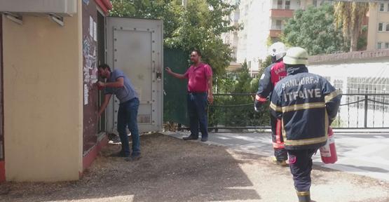 Urfa'da Trafo Yangını