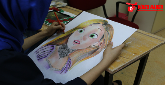 Urfa'da yetişen genç ressamlar