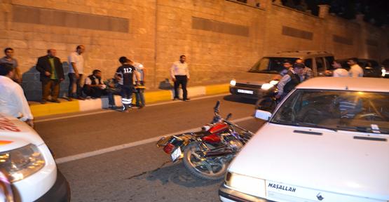 Urfa'daki kazada motosiklet sürücüsü yaralandı