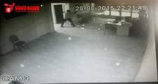Saldırı anı güvenlik kamerasına yansıdı