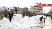 Urfa'da taşımalı kar