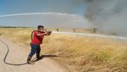 Sınırda Anız Yangını
