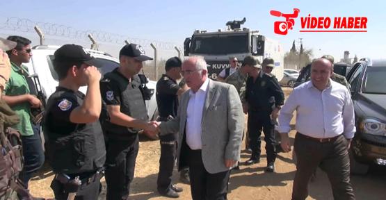 Vali Tuna Suriye sınıra gitti